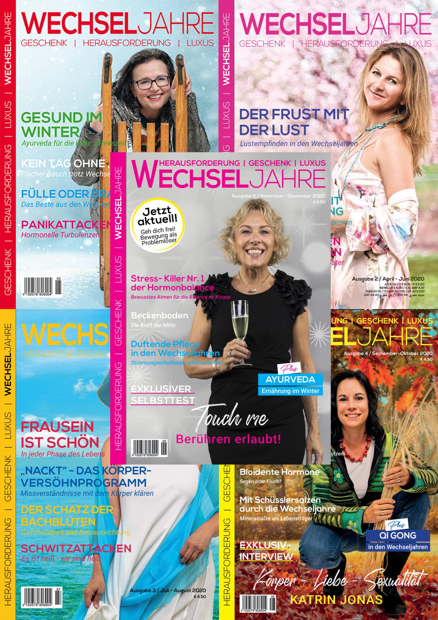 Magazin Wechseljahre | Abo 2020 | Ausgaben 1-5/2020 | Preis 15,- € | Magazin Wechseljahre |meine-wechseljahre.com