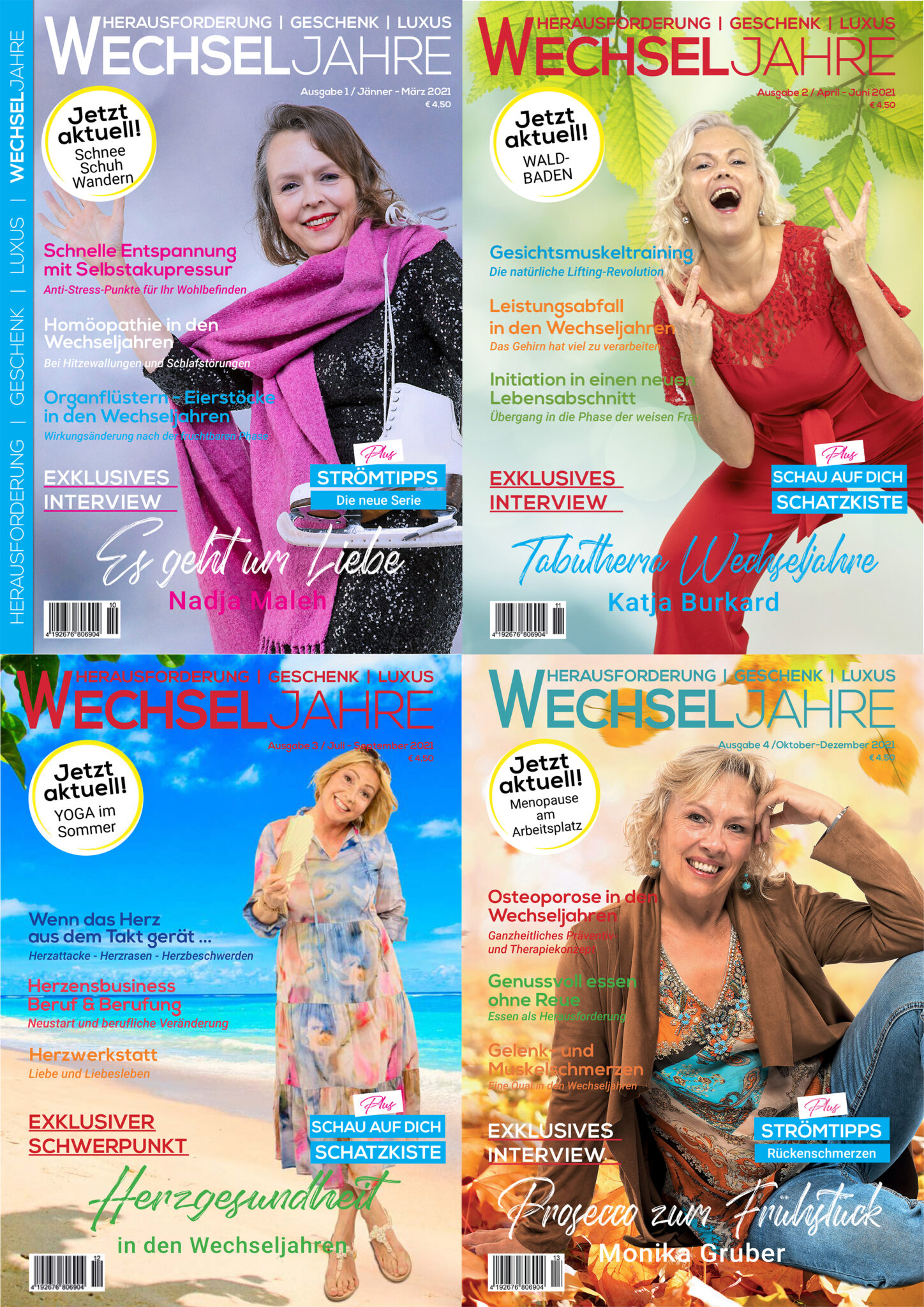 Magazin Wechseljahre   Abo 2020   Ausgaben 1-5/2020   Preis 15,- €   Magazin Wechseljahre  meine-wechseljahre.com
